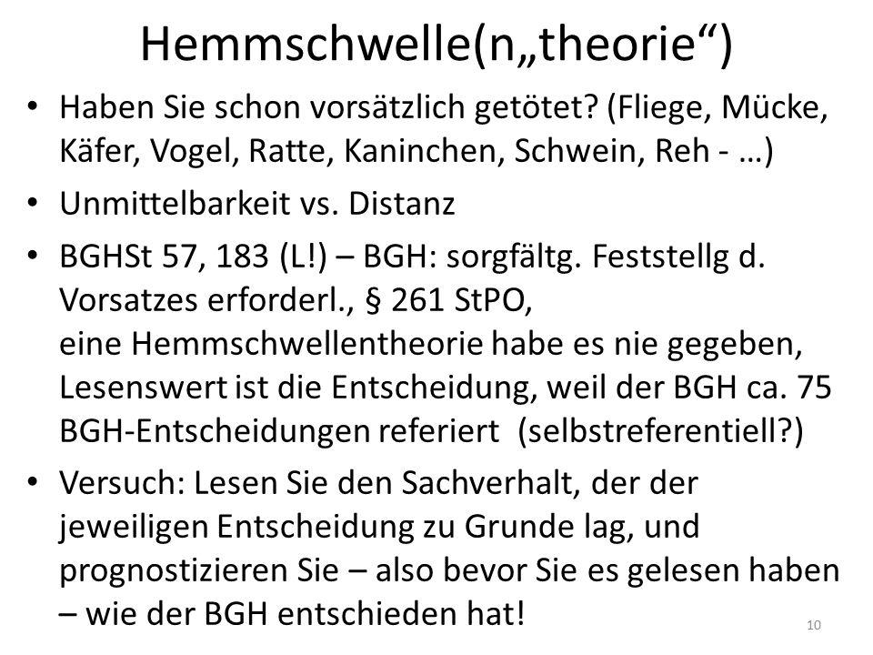 """Hemmschwelle(n""""theorie"""") Haben Sie schon vorsätzlich getötet? (Fliege, Mücke, Käfer, Vogel, Ratte, Kaninchen, Schwein, Reh - …) Unmittelbarkeit vs. Di"""