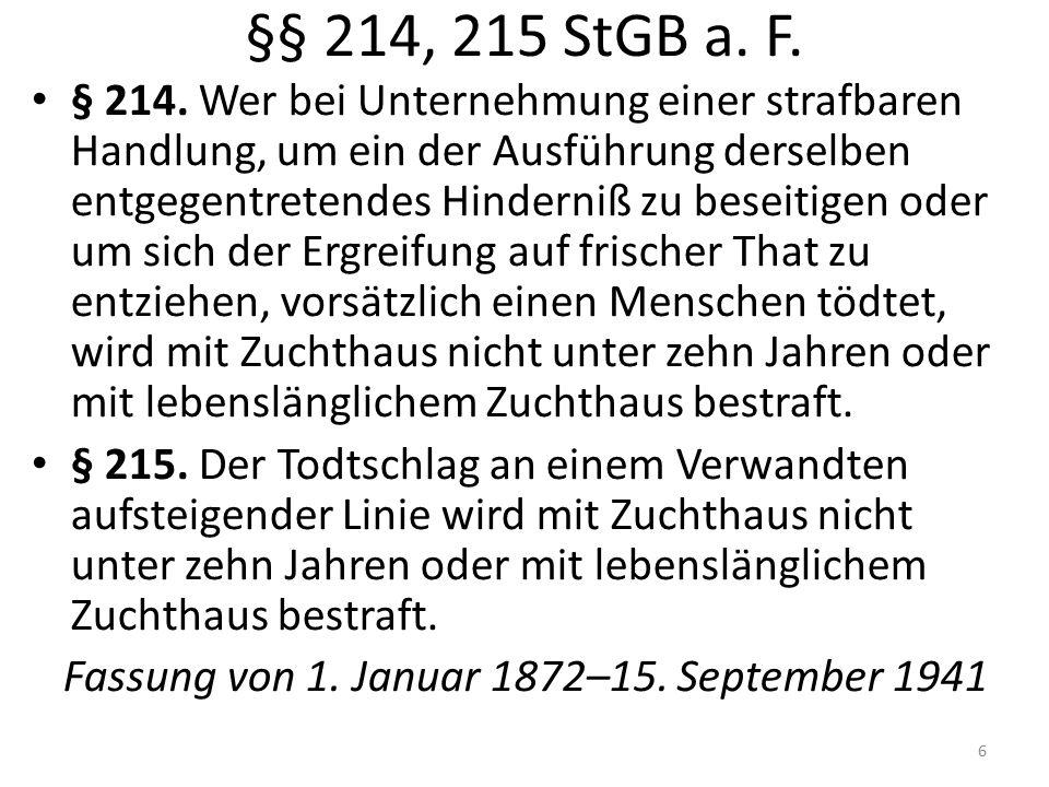 §§ 214, 215 StGB a. F. § 214.