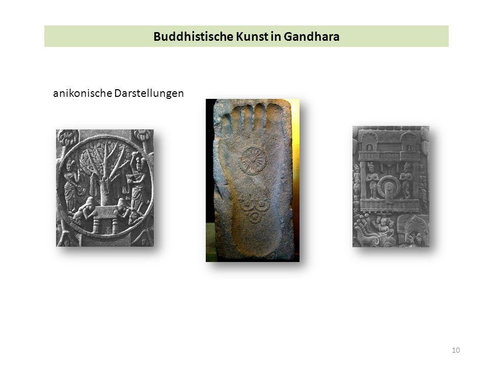 10 Buddhistische Kunst in Gandhara anikonische Darstellungen