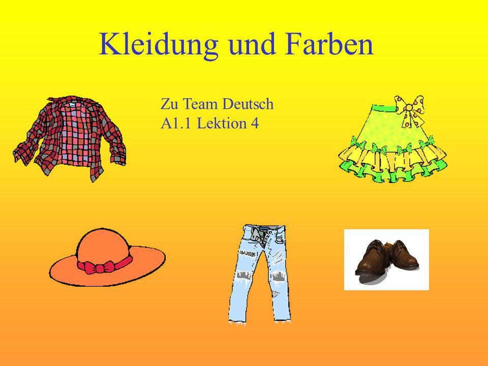 Kleidung und Farben Zu Team Deutsch A1.1 Lektion 4