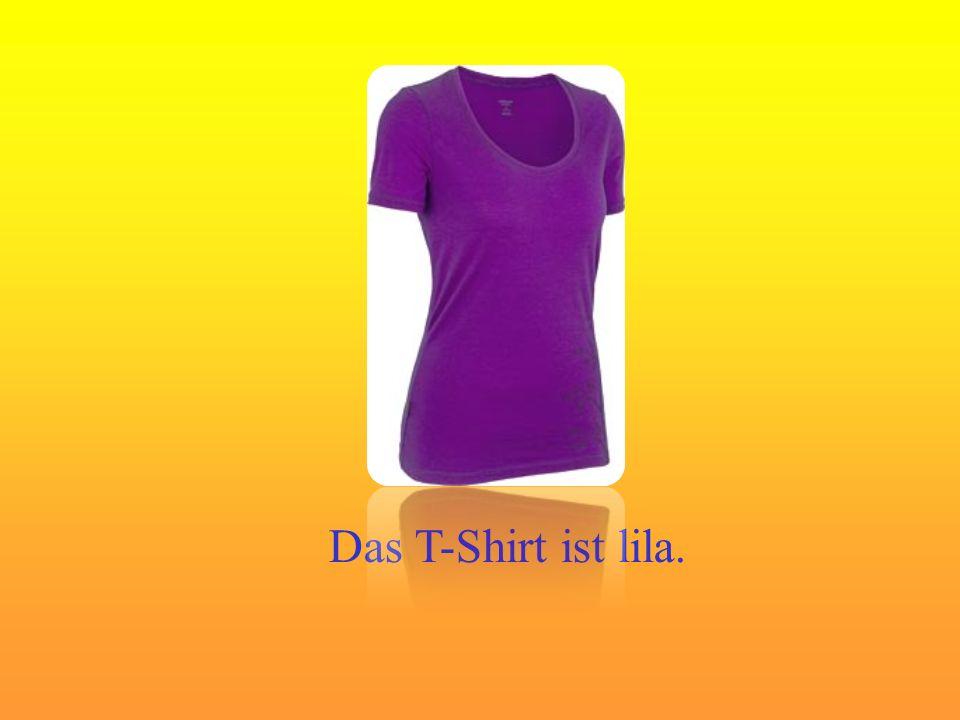 Das T-Shirt ist lila.