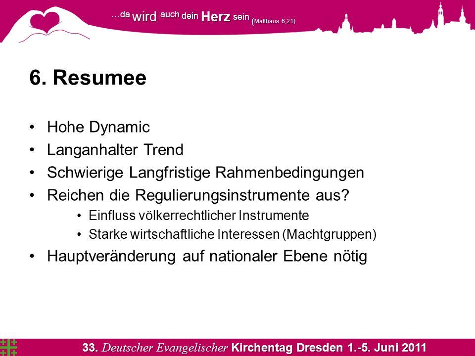 33. Deutscher Evangelischer Kirchentag Dresden 1.-5. Juni 2011 …da wird auch dein Herz sein ( Matthäus 6,21) 6. Resumee Hohe Dynamic Langanhalter Tren