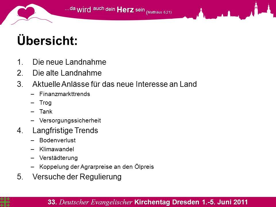 33. Deutscher Evangelischer Kirchentag Dresden 1.-5. Juni 2011 …da wird auch dein Herz sein ( Matthäus 6,21) Übersicht: 1.Die neue Landnahme 2.Die alt