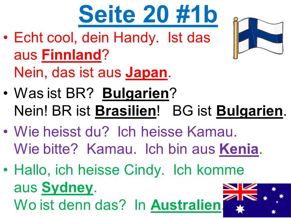 Seite 20 #1b Echt cool, dein Handy. Ist das aus Finnland.