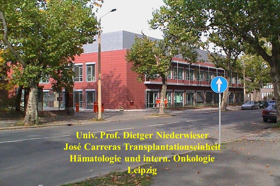 Univ. Prof. Dietger Niederwieser José Carreras Transplantationseinheit Hämatologie und intern. Onkologie Leipzig