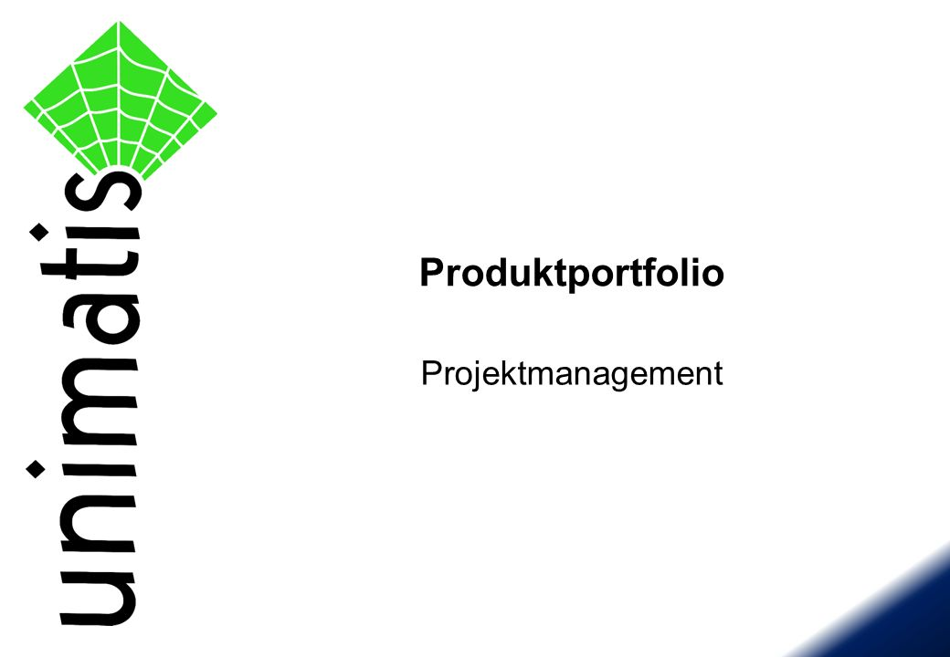 Projektmanagement Produktportfolio