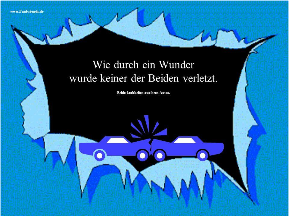 www.FunFriends.de Eine Frau und ein Mann wurden in einen Autounfall verwickelt.