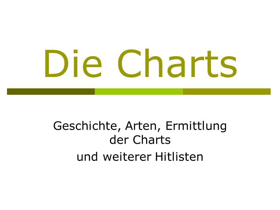Die Charts Geschichte, Arten, Ermittlung der Charts und weiterer Hitlisten