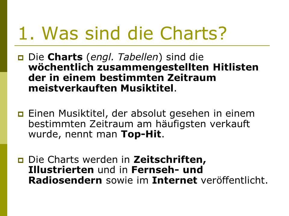 1. Was sind die Charts.  Die Charts (engl.