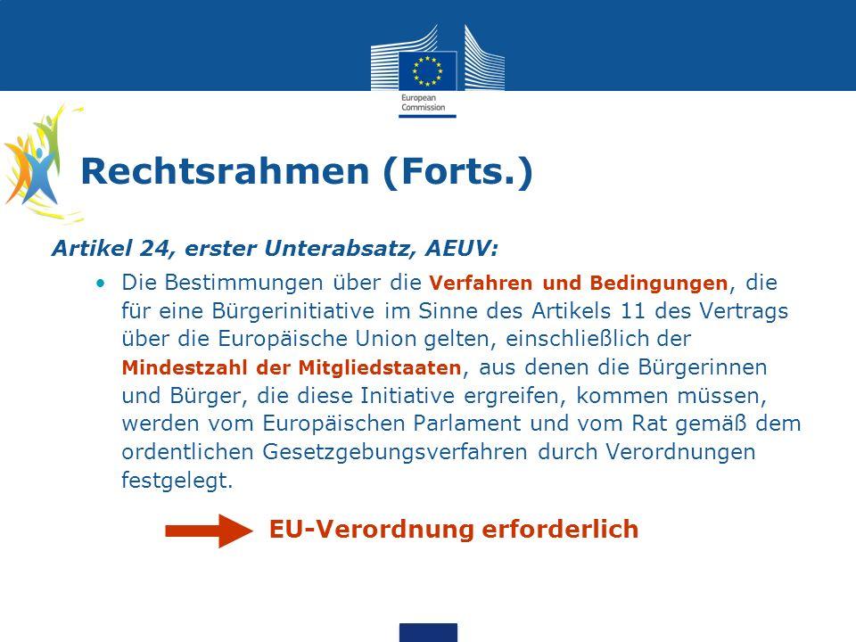 Rechtsrahmen (Forts.) Verordnung (EU) Nr.