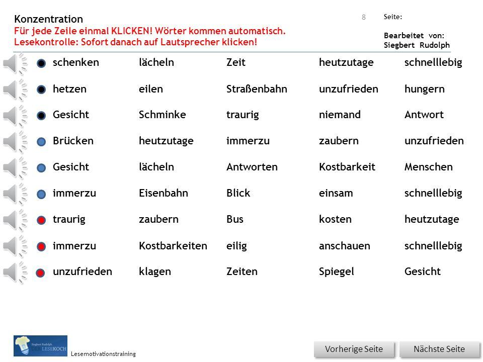 Übungsart: Seite: Bearbeitet von: Siegbert Rudolph Lesemotivationstraining Gedicht – Reimwort zuordnen.