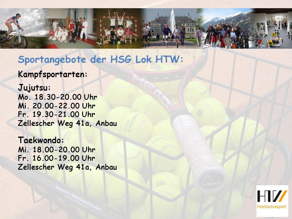 Sportangebote der HSG Lok HTW: Kampfsportarten: Jujutsu: Mo.