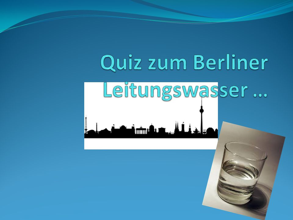 Zu wieviel Prozent besteht das Berliner Leitungswasser aus lokalem Grundwasser.