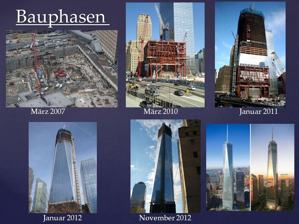 März 2007 März 2010 Januar 2011 Januar 2012 November 2012 Bauphasen