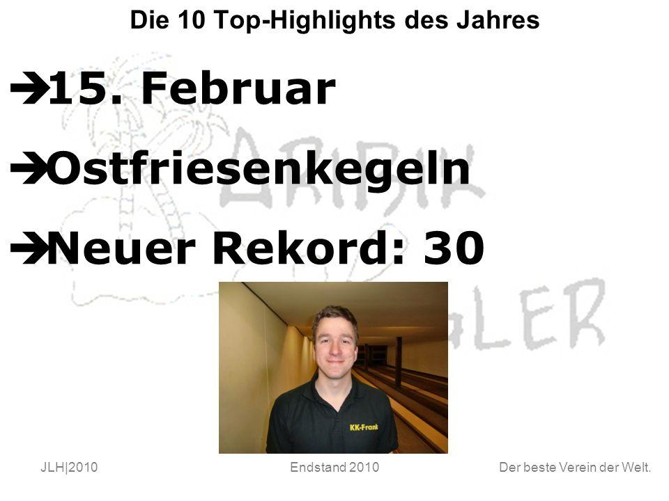 Der beste Verein der Welt. JLH|2010Endstand 2010 Die 10 Top-Highlights des Jahres  15.
