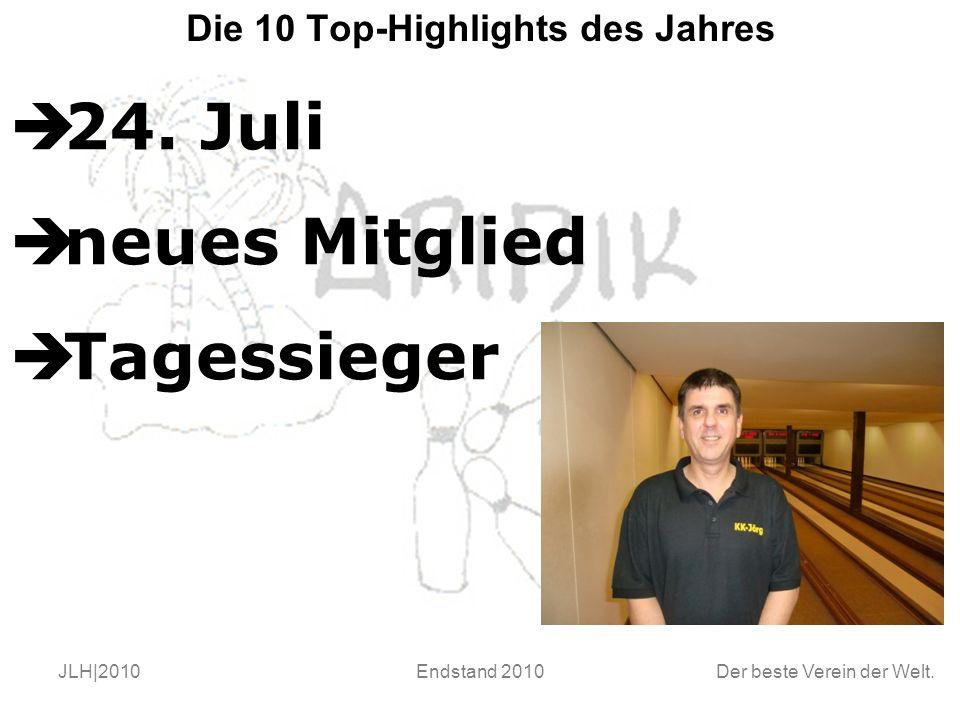 Der beste Verein der Welt. JLH|2010Endstand 2010 Die 10 Top-Highlights des Jahres  24.
