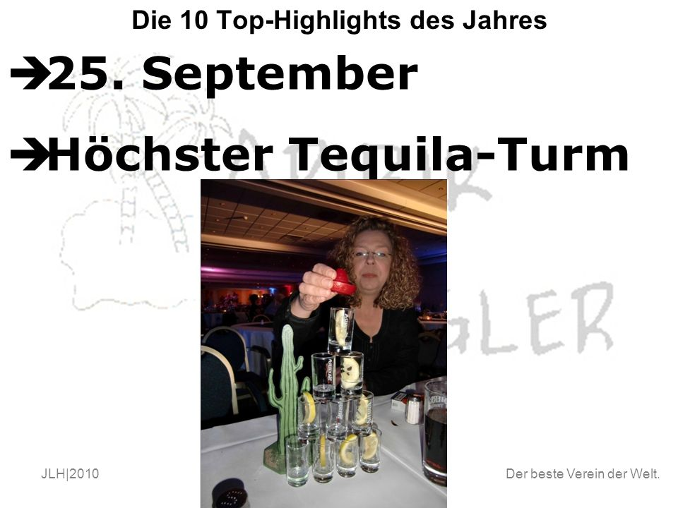 Der beste Verein der Welt. JLH|2010Endstand 2010 Die 10 Top-Highlights des Jahres  25.