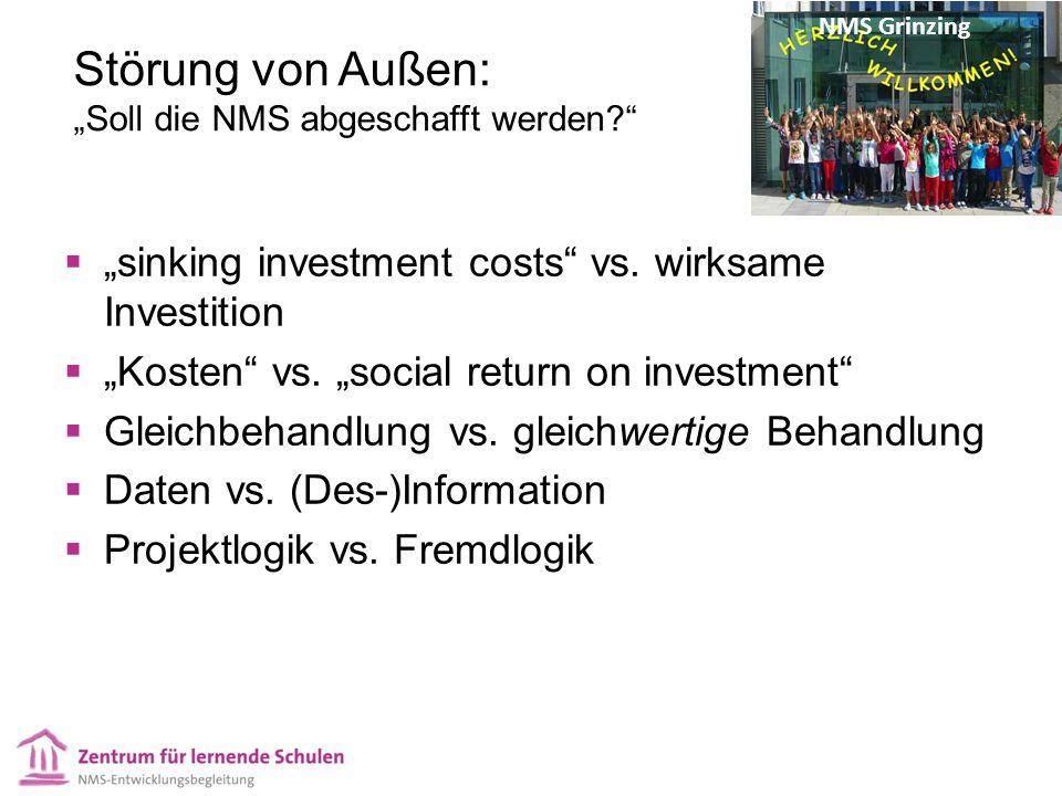 """Störung von Außen: """"Soll die NMS abgeschafft werden  """"sinking investment costs vs."""