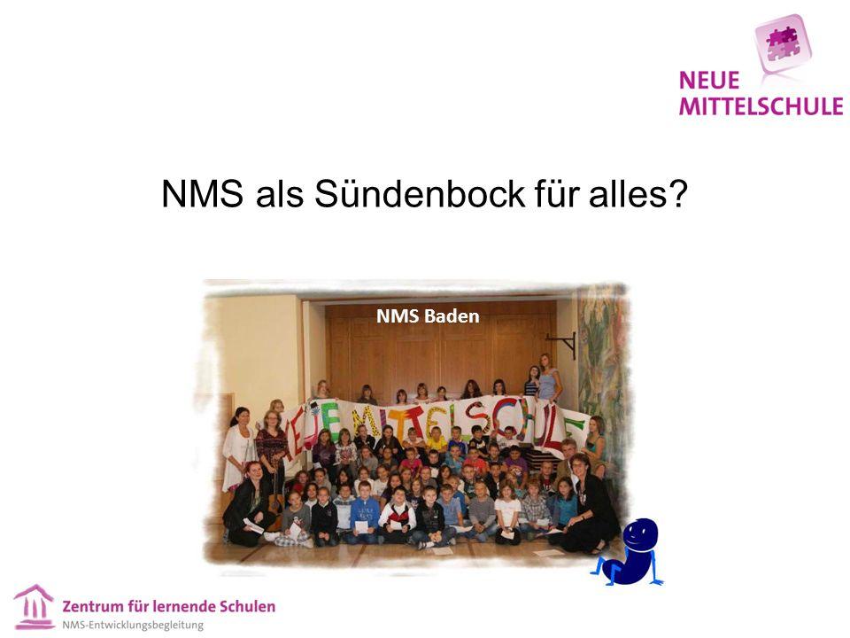 NMS als Sündenbock für alles NMS Baden