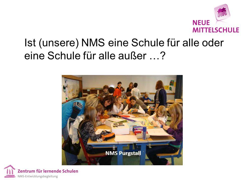 Ist (unsere) NMS eine Schule für alle oder eine Schule für alle außer … NMS Purgstall