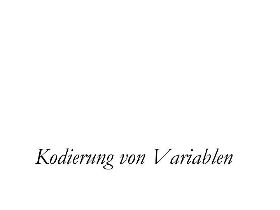 Kodierung von Variablen