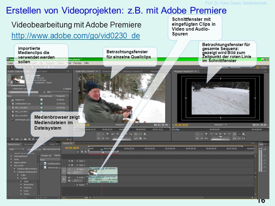 16 Erstellen von Videoprojekten: z.B.