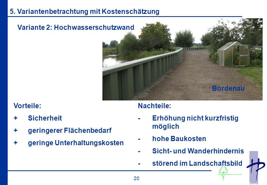 20 Variante 2: Hochwasserschutzwand 5.