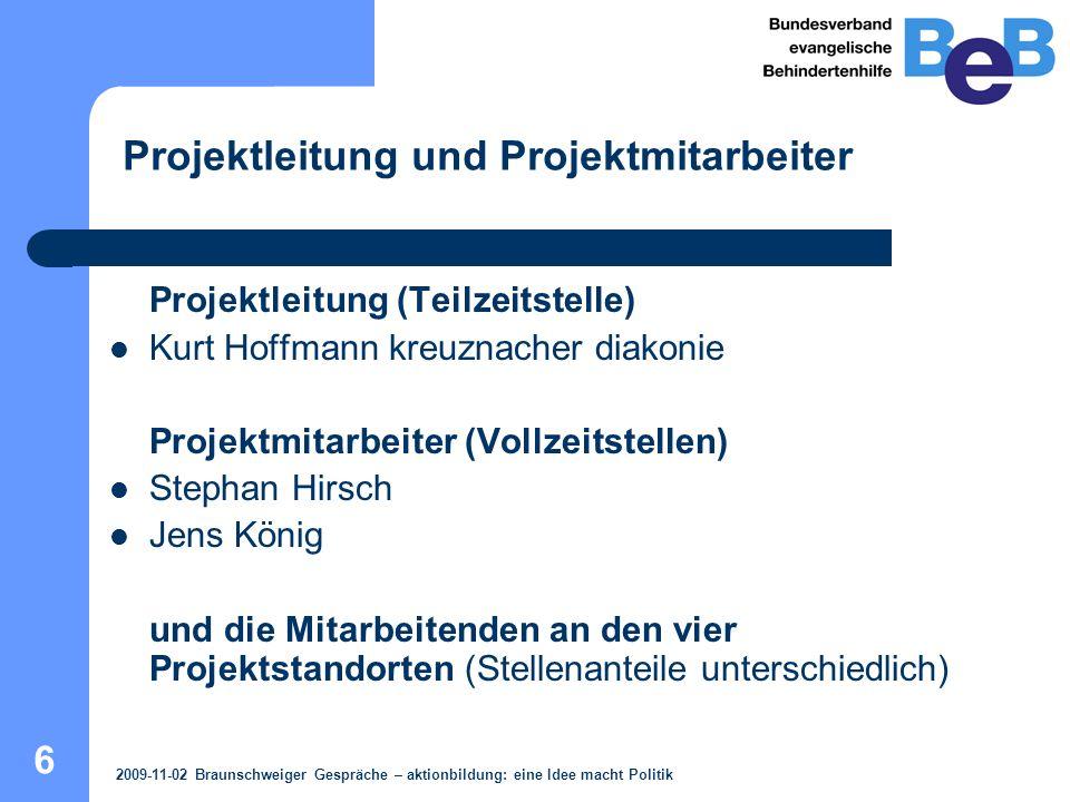 """7 Modellstandorte """"aktionbildung : 2009-11-02 Braunschweiger Gespräche – aktionbildung: eine Idee macht Politik"""