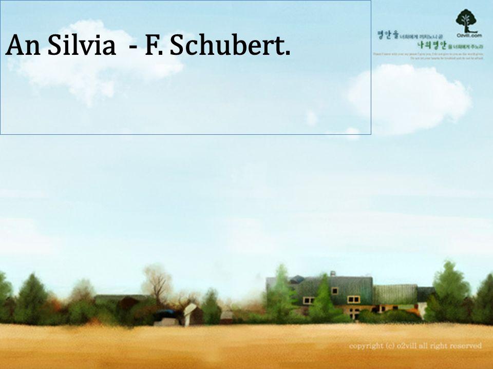 An Silvia - F. Schubert.