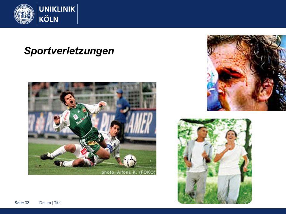Datum | TitelSeite 32 Sportverletzungen