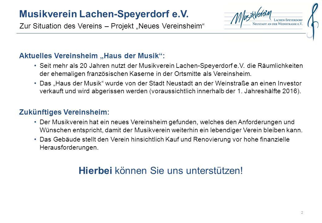Musikverein in Zahlen (Stand Januar 2016): www.mvlachenspeyerdorf.de Musikverein Lachen-Speyerdorf e.V.