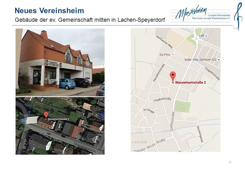 Neues Vereinsheim Gebäude der ev. Gemeinschaft mitten in Lachen-Speyerdorf 6