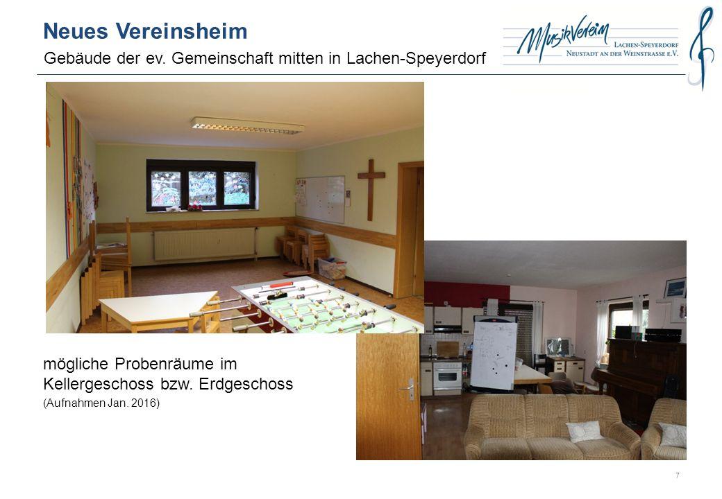 Neues Vereinsheim Gebäude der ev.