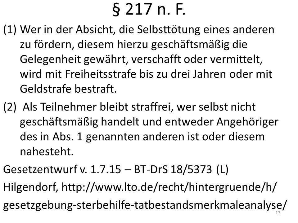 § 217 n.F.