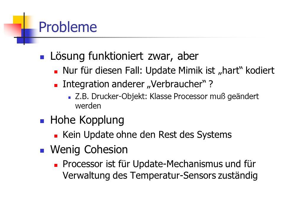 """Probleme Lösung funktioniert zwar, aber Nur für diesen Fall: Update Mimik ist """"hart kodiert Integration anderer """"Verbraucher ."""