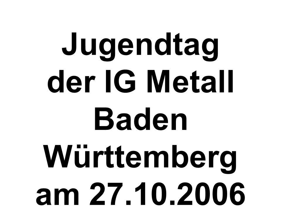 Jugendtag der IG Metall Baden Württemberg am 27.10.2006