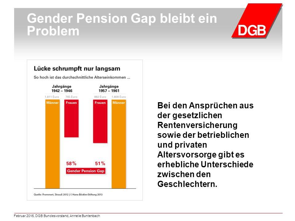 Gender Pension Gap bleibt ein Problem Bei den Ansprüchen aus der gesetzlichen Rentenversicherung sowie der betrieblichen und privaten Altersvorsorge gibt es erhebliche Unterschiede zwischen den Geschlechtern.