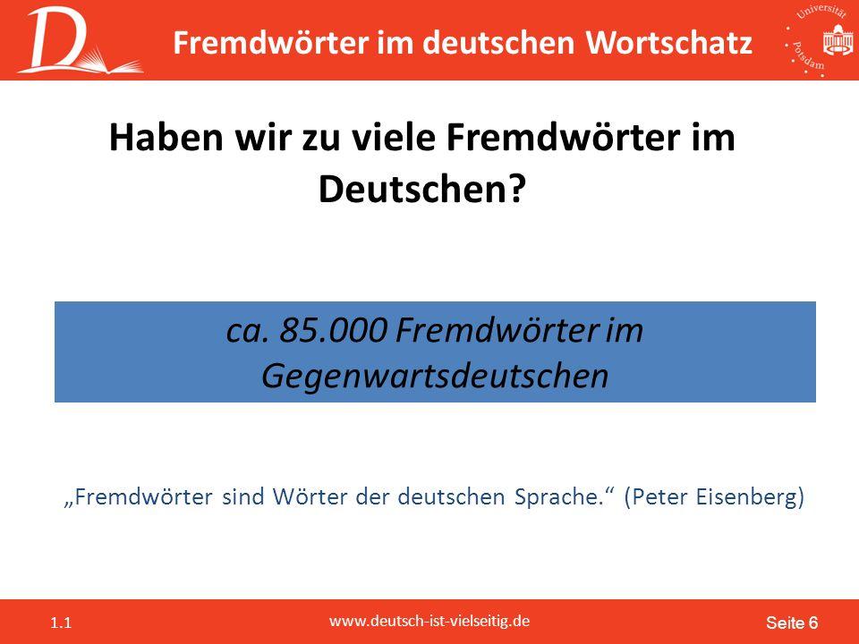 """Seite 17 www.deutsch-ist-vielseitig.de 1.1 """"Hast du das nicht gesehn, Alter? """"Ey, lass das mal! """"Hast du das nicht gesehn, Lan? Wallah, lass das mal."""
