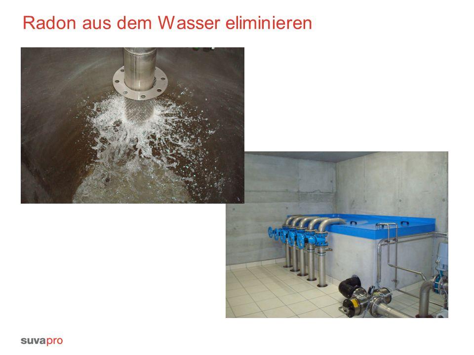Radon aus dem Wasser eliminieren