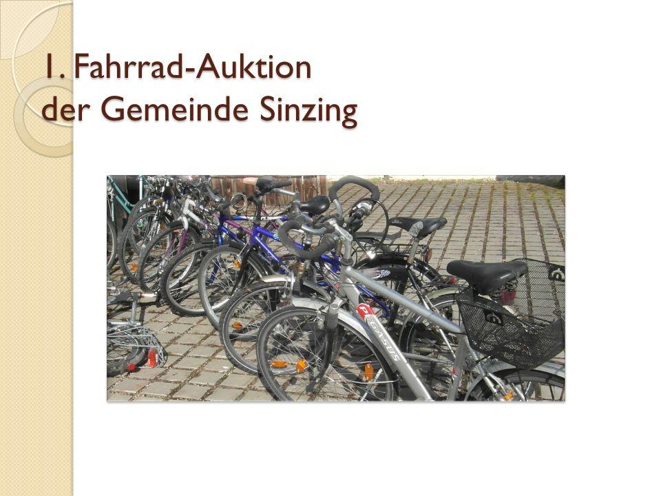 1. Fahrrad-Auktion der Gemeinde Sinzing