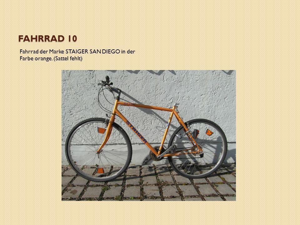 FAHRRAD 10 Fahrrad der Marke STAIGER SAN DIEGO in der Farbe orange. (Sattel fehlt)