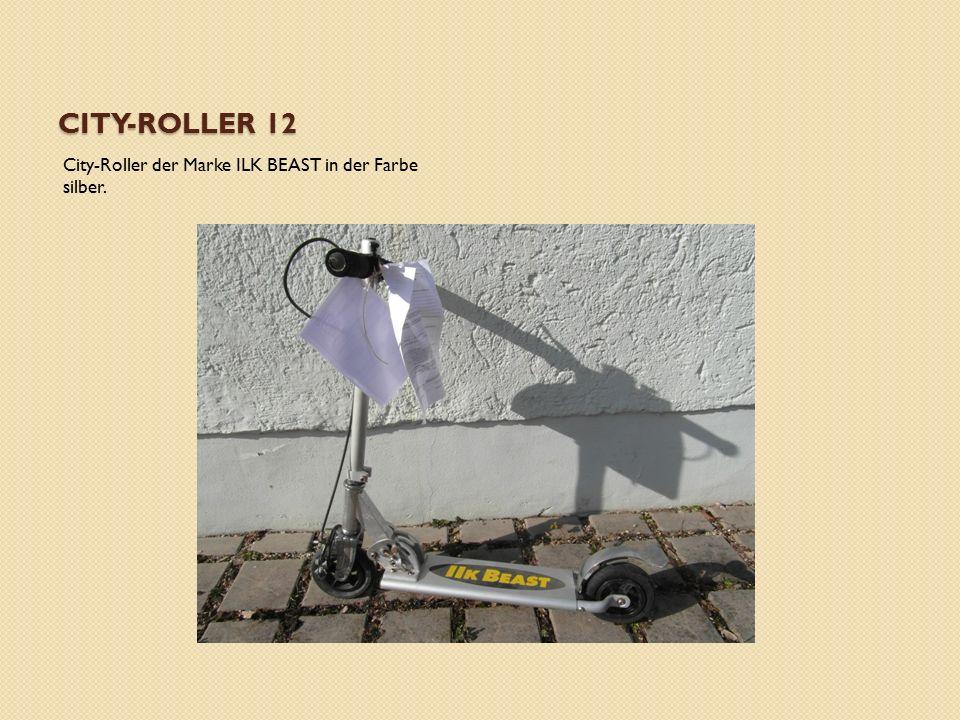 CITY-ROLLER 12 City-Roller der Marke ILK BEAST in der Farbe silber.