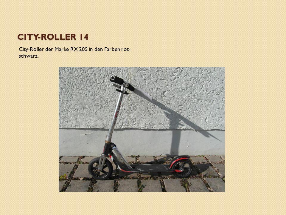 CITY-ROLLER 14 City-Roller der Marke RX 205 in den Farben rot- schwarz.