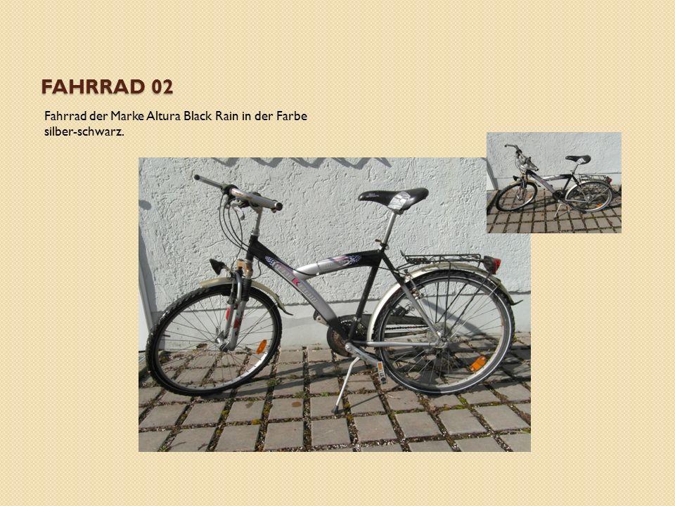 FAHRRAD 02 Fahrrad der Marke Altura Black Rain in der Farbe silber-schwarz.