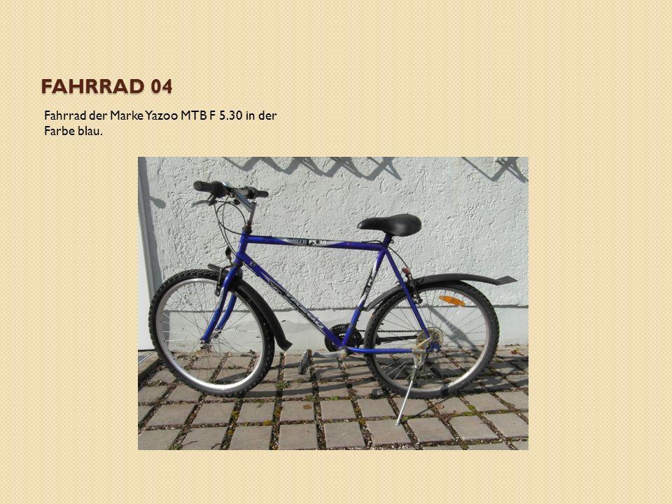 FAHRRAD 04 Fahrrad der Marke Yazoo MTB F 5.30 in der Farbe blau.