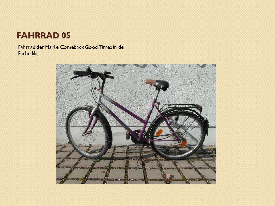 FAHRRAD 05 Fahrrad der Marke Comeback Good Times in der Farbe lila.