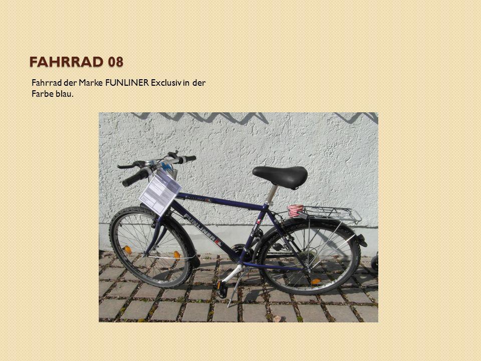FAHRRAD 08 Fahrrad der Marke FUNLINER Exclusiv in der Farbe blau.