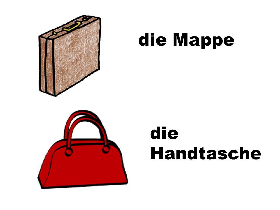 die Mappe die Handtasche