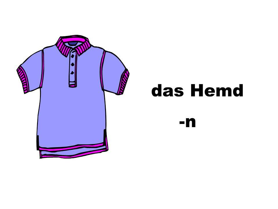 das Hemd -n