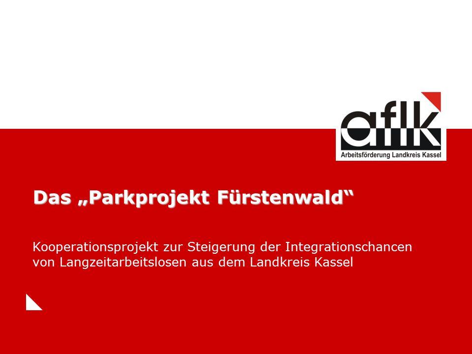 """Das """"Parkprojekt Fürstenwald Kooperationsprojekt zur Steigerung der Integrationschancen von Langzeitarbeitslosen aus dem Landkreis Kassel"""